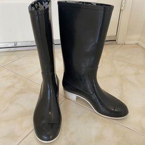 Chanel authentic rain boots